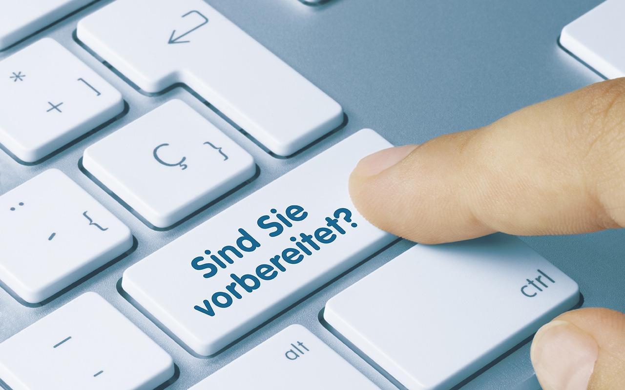 Tastatur mit der Frage ob Sie bereit sind.
